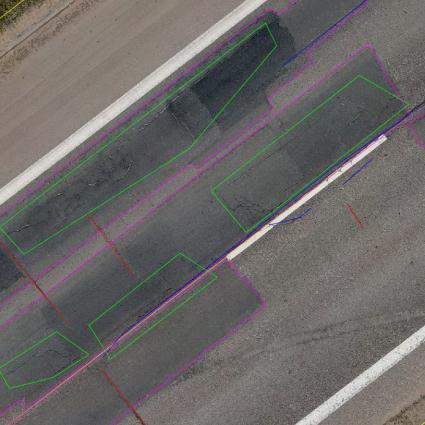 2400 km Vilnius streets detail asphalt investigation